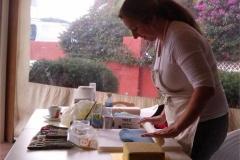 01-Liz-demonstrates-decorating-a-Christmas-cake