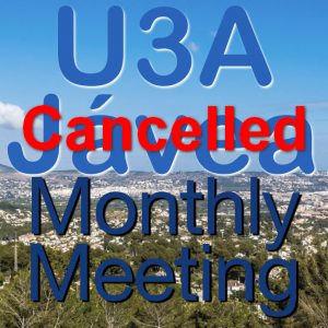 Cancelled - April General Meeting @ Sala Cabo La Nao, Parador Hotel