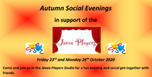 Autumn Social Evenings, Friday 23rd and Monday 26th October 2020
